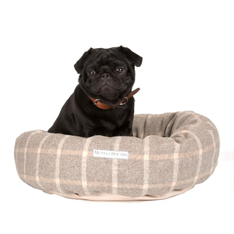 Slate Tweed Donut Bed
