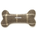 Slate Tweed Bone Squeaky Toy