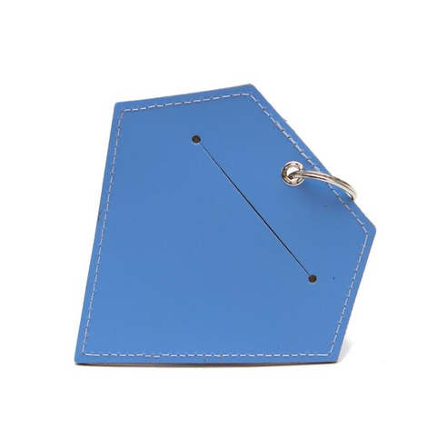 Leather Diamond Poo Pouch – Botanical Blue 2