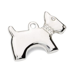 Silver Dog-Shaped Tag