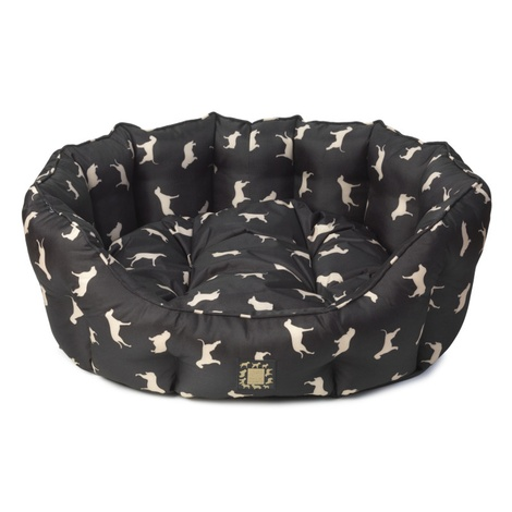 Water Resistant Print Oval Dog Bed