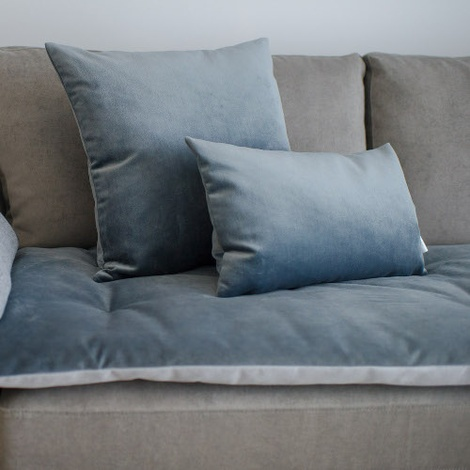 Velvet Scatter Cushion - Slate