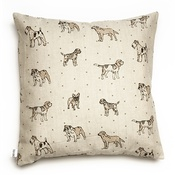 Mutts & Hounds - Dogs Linen Cushion - Natural