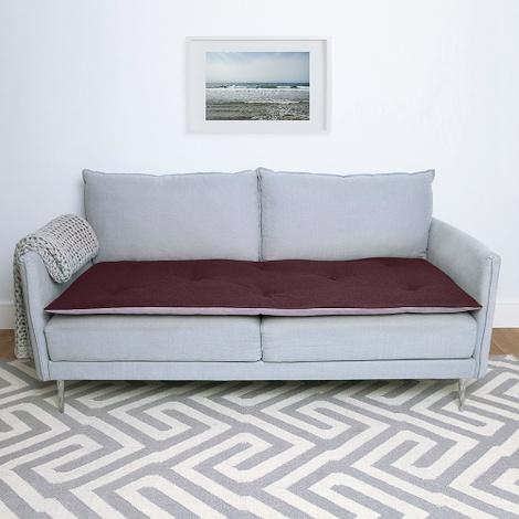 Wool Sofa Topper - Damson
