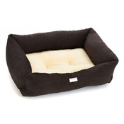 Pet Pooch Boutique - Chocolate Crinkle Sherpa Dog Bed