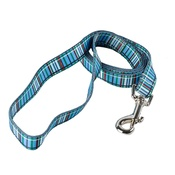Yellow Dog - Tartan Plaid Dog Lead – Blue