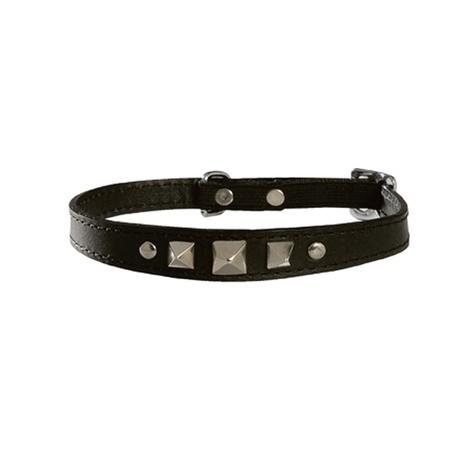 Rock Leather Cat Collar – Black