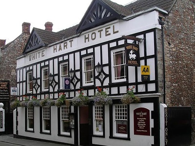 The White Hart Hotel, in Wells Somerset, Wells