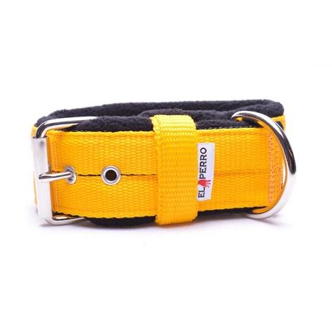 4cm Width Fleece Comfort Dog Collar – Yellow