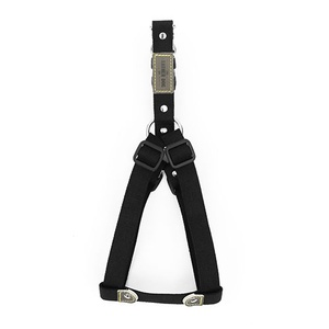 Black Cotton Webbing Dog Harness