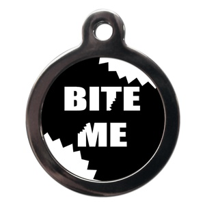 Bite Me Dog ID Tag