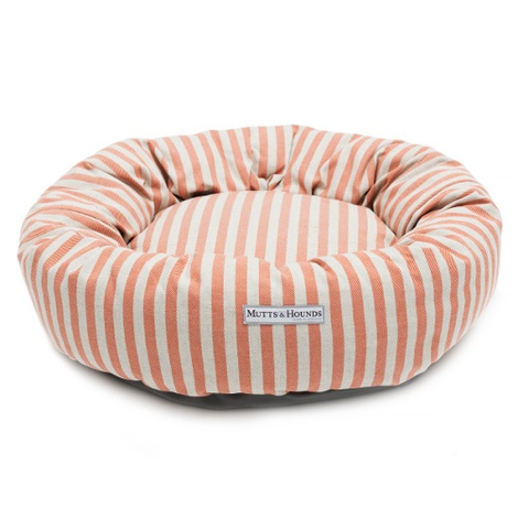 Orange Stripe Donut Dog Bed 2