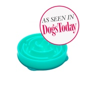 Outward Hound - Drop Caribbean Blue Slow Feeder Bowl