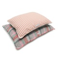 Orange Striped Pillow Dog Bed 4