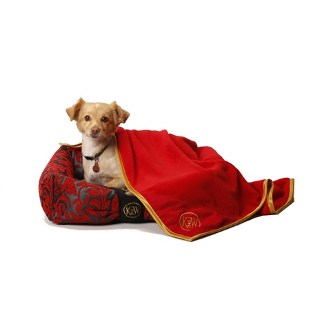 Cosy Cuddle Pet Blanket - Ruby Red 2