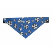 Zukie Style - Football Soccer Dog & Cat Bandana - Blue
