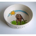 Large Personalised Dog Bowl 7