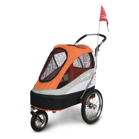 Orange/Black Sporty Dog Buggy & Trailer 2