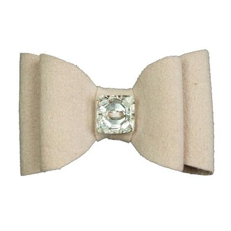 Dog Collar Bow Accessory - Marshmallow 2