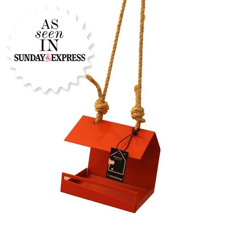 Bauhaus Bird Feeder - Orange