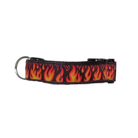 "Flames Collar  1"" Width"