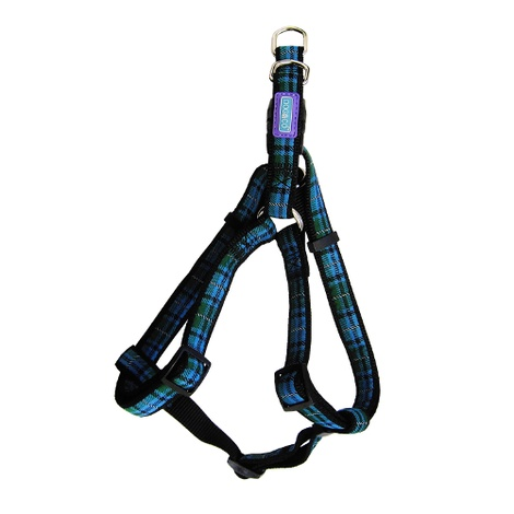 Tartan Dog Harness - Blue