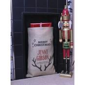 Handcrafted Christmas - Dasher – Personalised Medium Christmas Sack