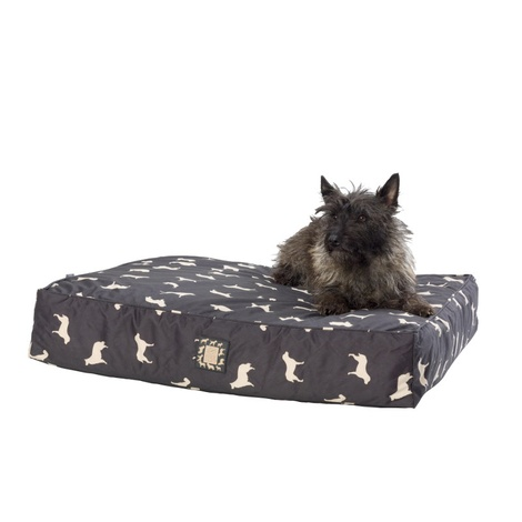 Dog Print Water Resistant Deep Filled Dog Bed