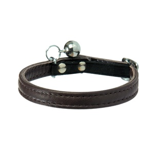Large Escapade Leather Cat Collar – Brown