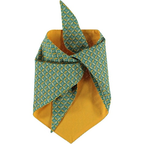 Cubes Dog Bandana – Yellow & Green