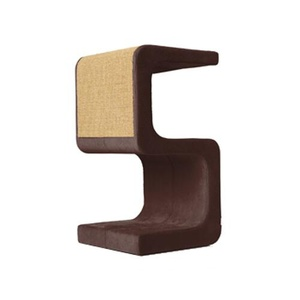 Scratching Post - Letter S - Brown