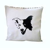 Tomato Catshop - Border Collie Thin Striped Cushion