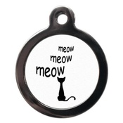 PS Pet Tags - Cartoon Meow Cat Tag