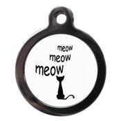 PS Pet Tags - Cartoon Meow Cat Tag