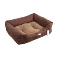 Chocolate Sherpa Fleece Dog Bed