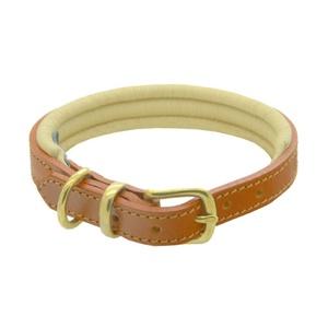 Tan & Cream Colours Leather Collar