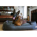 Shadow Grey Houndstooth Lounge Dog Bed 5