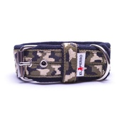 El Perro - 4cm width Fleece Comfort Dog Collar - Jungle Camo