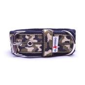 El Perro - 4cm width Fleece Comfort Dog Collar - Jungle Camo