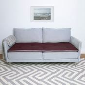 The Lounging Hound - Wool Sofa Topper - Damson