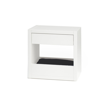 Bloq Pet Bed & Side Table - White 6