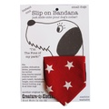 Slip-on-Bandana Red Star Print