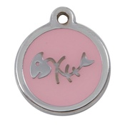 Tagiffany - My Sweetie Light Pink Fishbone Pet ID Tag