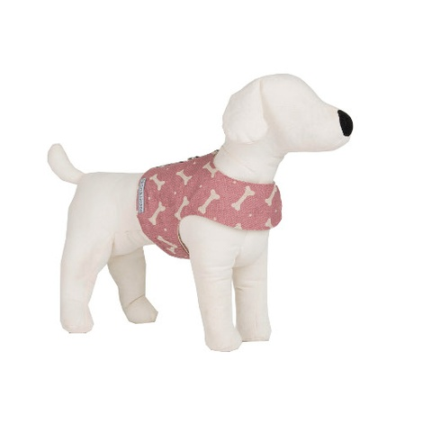 Heather Bone Linen Dog Harness 2