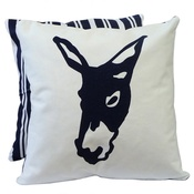 Tomato Catshop - Donkey Butcher Stripe Blue Cushion