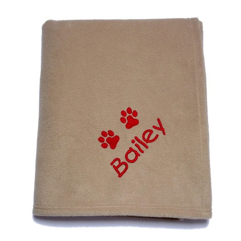 Personalised Blanket for Big Dogs - Biscuit
