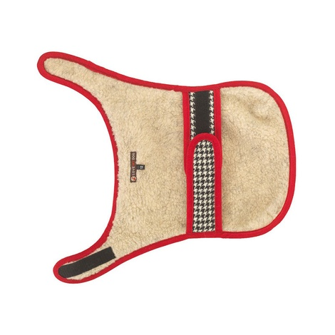 Ellesmere Red Harris Tweed Dog Coat 3