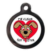 PS Pet Tags - Lover Not A Biter Dog ID Tag