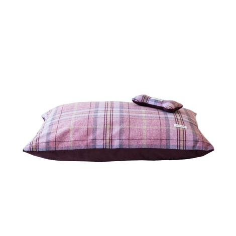 Pink Shetland Wool Luxury Lounging Dog Bed Cushion