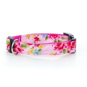 """Pink Vintage Dog Collar 1"""" Width"""